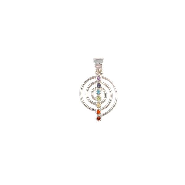 Anhänger Silber Motiv Chakra mit Stein