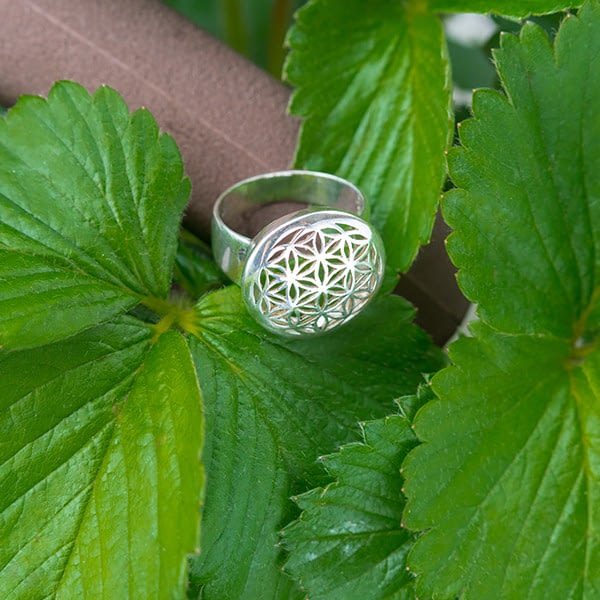 Ring Blume des Lebens