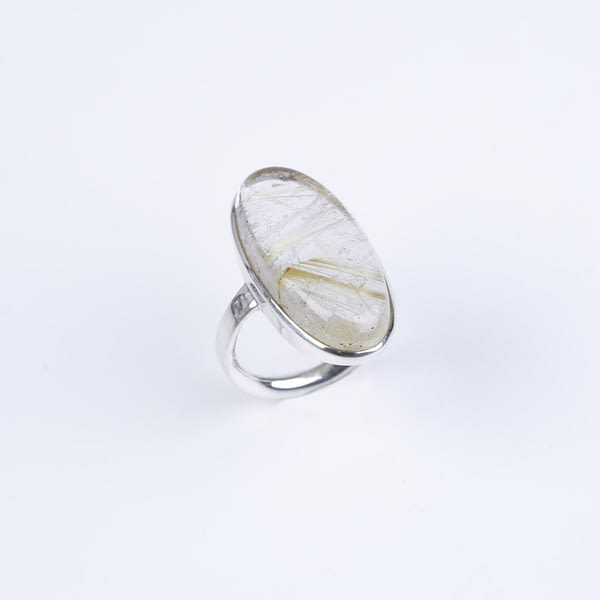 Ring Silber mit Rutilquarz