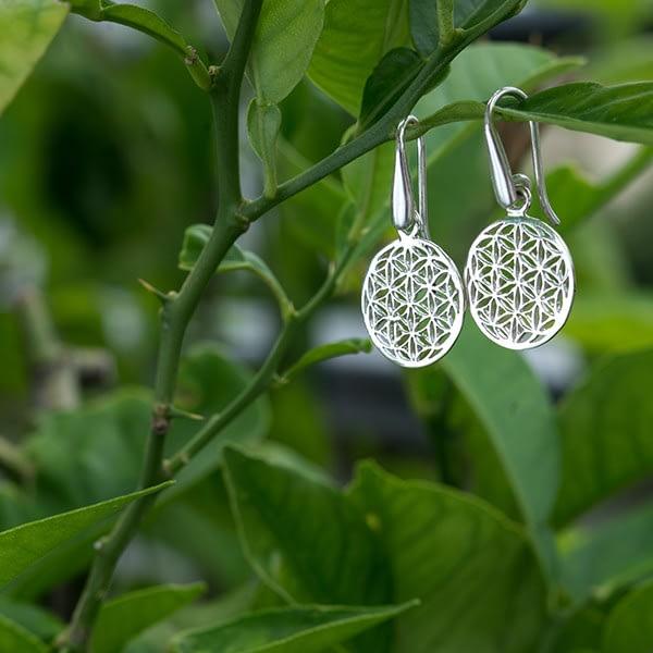 Ohrhänger Silber Blume des Lebens