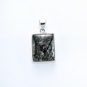 Anhänger Silber mit Turmalinquarz