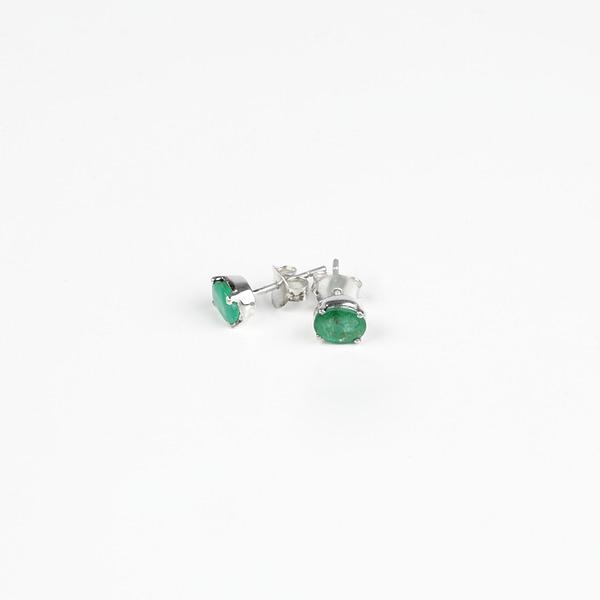 Ohrringe Stecker mit Smaragd