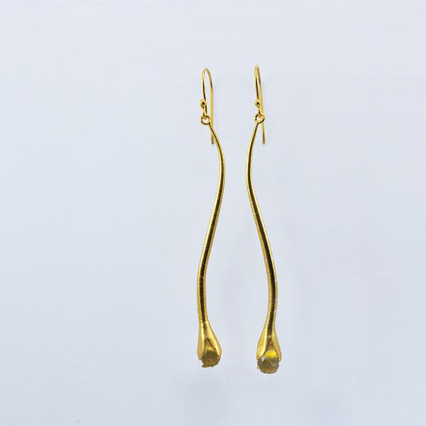 Ohrhänger silber/vergoldet mit Citrin