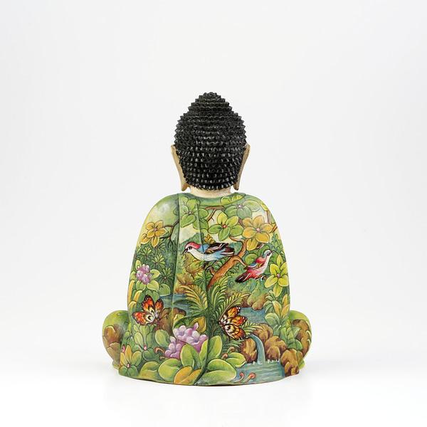 Buddha Krokodil-Holz, fein bemalt