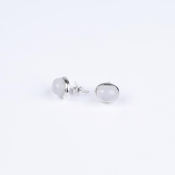 Ohrringe Stecker mit Mondstein