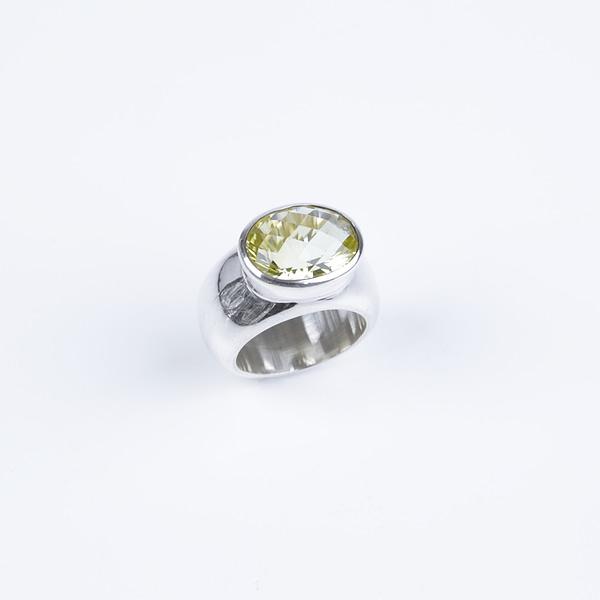 Ring Silber mit Gelben Quarz