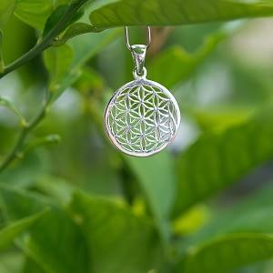 Anhänger Silber Blume des Lebens