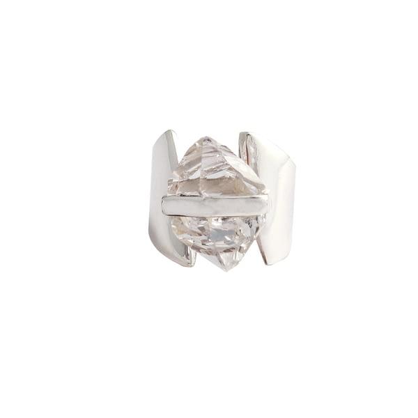 Ring Silber mit Herkimer Diamant