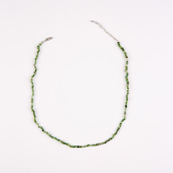 Kette mit Turmalinen und Smaragden