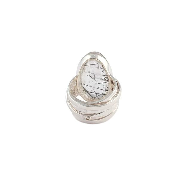 Ring Silber mit Turmalinquarz
