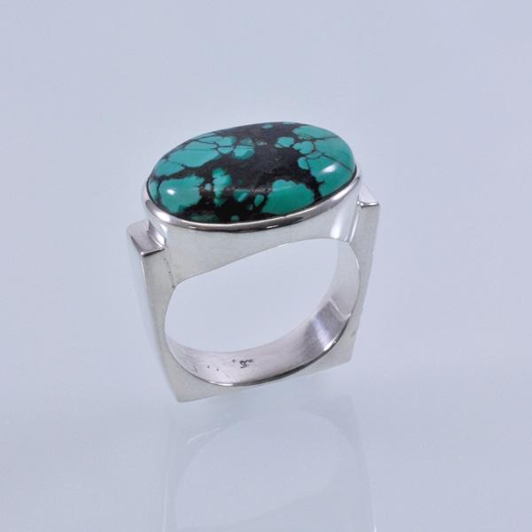 Ring Silber mit Türkis