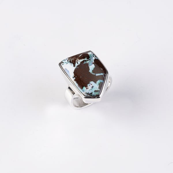 Ring Silber mit Boulderopal
