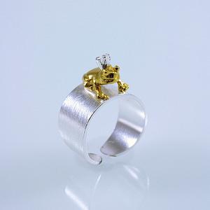 Ring Silber/Gold Froschkönig