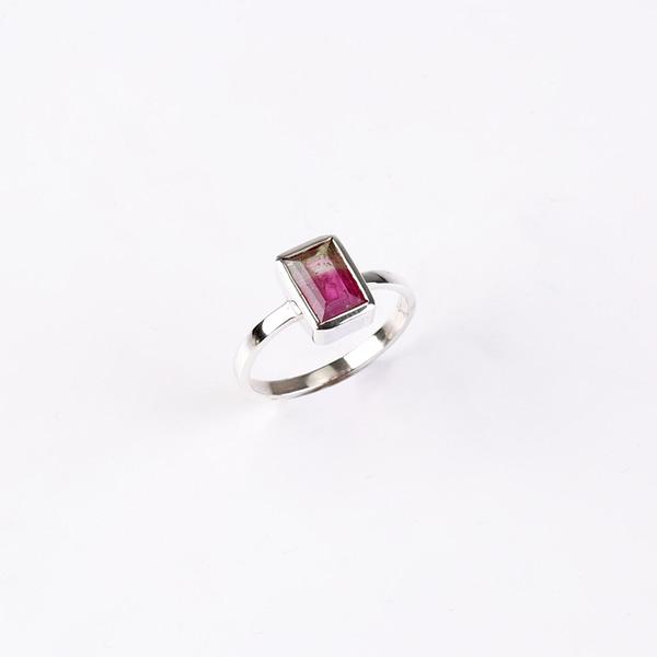 Ring Silber mit Melonenturmalin