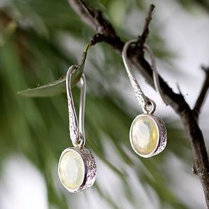 Ohrhänger Silber mit Opal