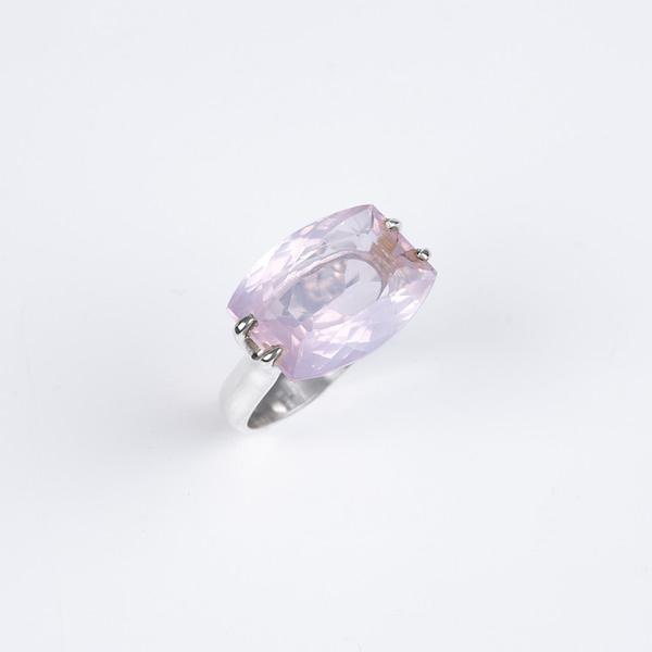 Ring Silber mit Rosenquarz