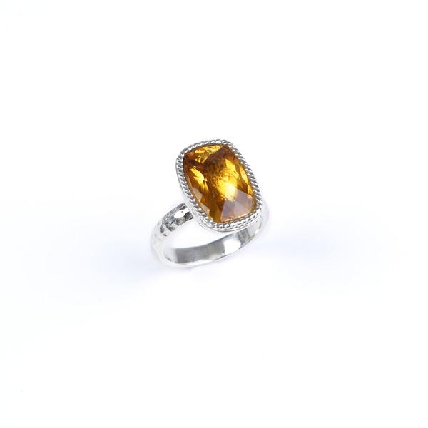 Ring Silber mit Citrin