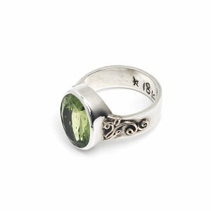 Ring Silber/Gold mit Peridot