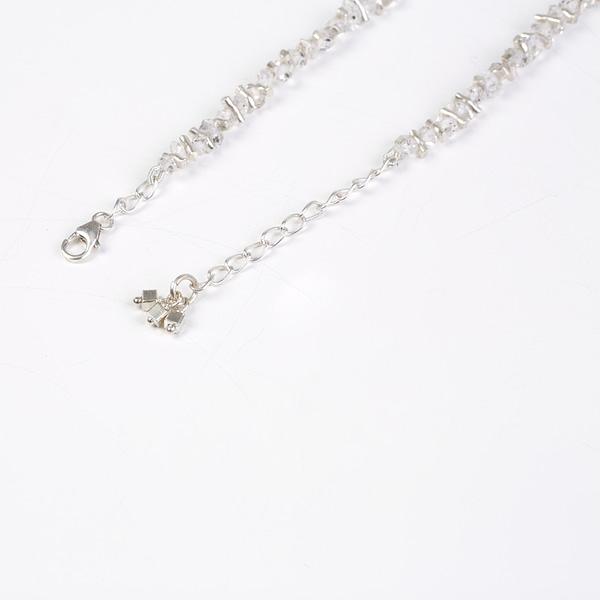 Kette mit Herkimer Diamanten und Silberelementen