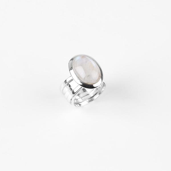Ring Silber mit Mondstein