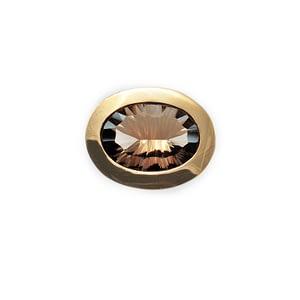 Ring Silber/Gold mit Rauchquarz