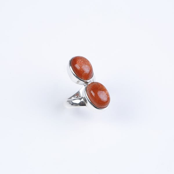 Ring Silber mit Sonnenstein